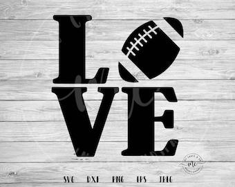 football love svg, love svg, football SVG, football Mom, Sports SVG, Baller SVG, Cricut, Silhouette, Cut Files, dxf, png, eps, jpeg