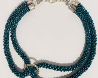 Evergreen Beaded Rope Necklace