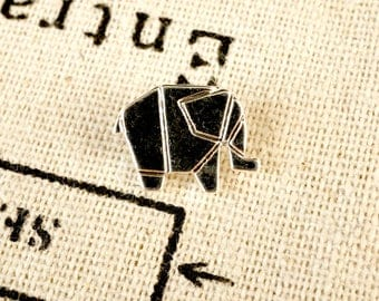 Origami elephant 2 silver charms  jewellery supplies