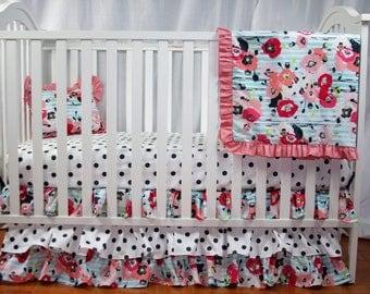 bumperless crib bedding set paparounes pastel baby bedding pink crib bedding dark gray