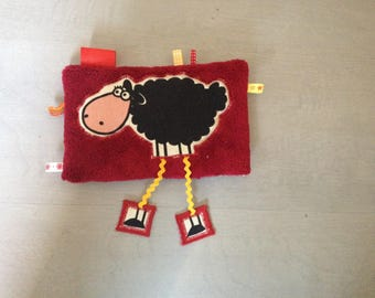 Burgundy Doudou sheep with long legs