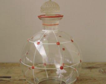 Vintage , Vintage glass bottle,pitcher,Liquor jug  COGNAC/LIQUOR GLASS
