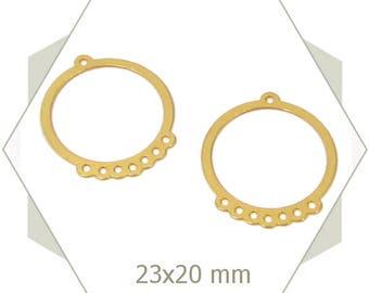 Matte gold circle, BG80 8 connectors