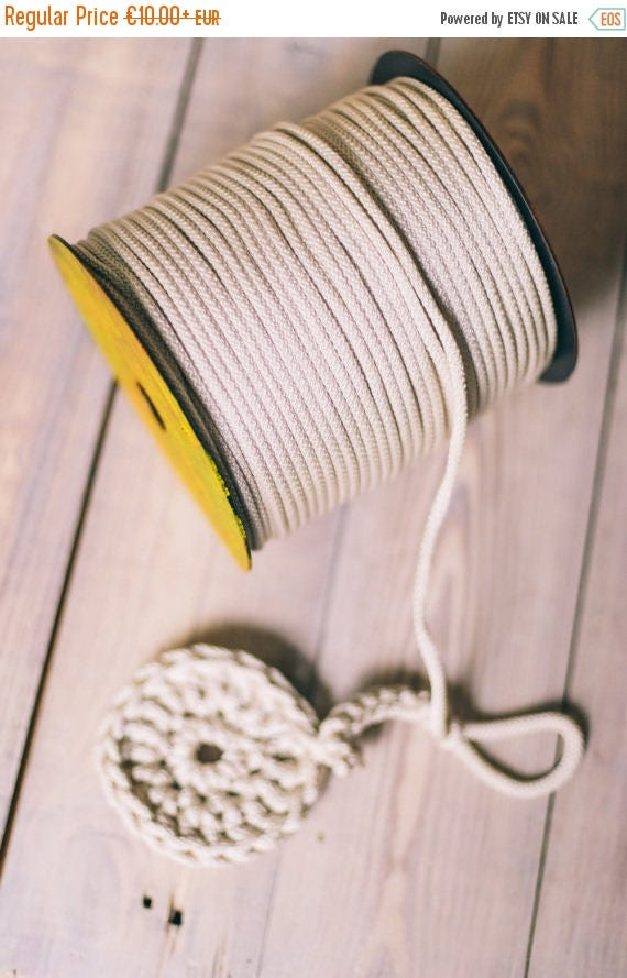 15 % OFF SILVER yarn, diy crafts, craft supplies, diy projects, chunky yarn, colored rope,rope yarn, polyester cord, rope cord, crochet cord