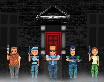 Resident Evil S.T.A.R.S. Alpha Team Poster/Print