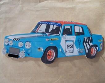 key wall renault 8 gordini rally / hanging key renault 8 gordini rally cut Opal