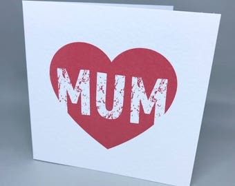 Mum heart - Mother's Day card
