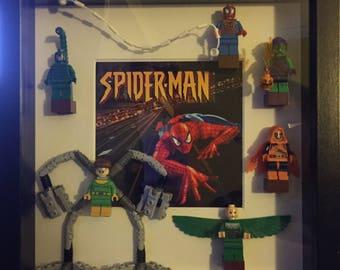 Spiderman minifigure frame