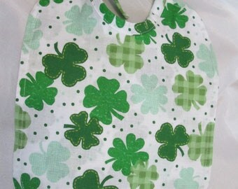 St. Patrick's Day Shamrocks! Absorbent! 100 percent Cotton! Photo Prop! Choose from 2 different backings: Reversible or Checkered