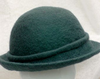 Felted Hat in Mountain Blue