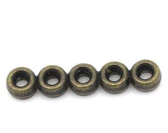 10 antique Bronze round shape connectors circles 22 x 3 mm