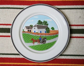 Laplau dinner plate, Villeroy and Boch -  Design Naif