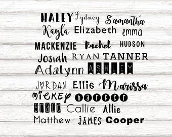 Name Decal - Custom Name Decal - Name Water Bottle Decal - Personalized Name Decal - Custom Vinyl Decal - Name Vinyl Decal - Custom Decal