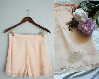 1940s Mon Doux Amour pink tap shorts | 40s tap shorts | vintage pink lingerie