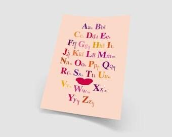 "Decorative ""Primer"" pink A3 poster"