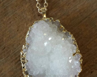 Natural Druzy Necklace