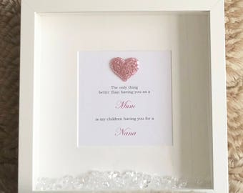 Mother's Day Frame - The only thing better than having you as my mum - Gift - Thank you mum