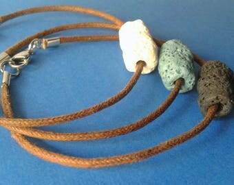 Lava, lava stone bracelet, bracelet diffuser, aromatherapy, unisex bracelet, gift for her, gift for him, Pearl of lava