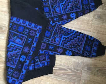 Vintage Geometric Christmas Jumper