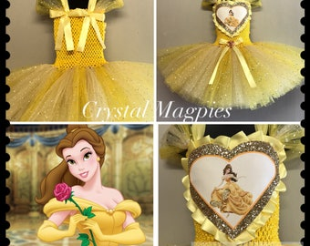 Belle inspired beauty and the beast tutu dress