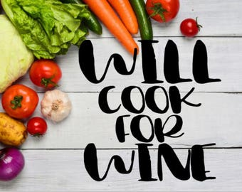 Will Cook For Wine Instant Pot Decal / Will Cook For Beer Instant Pot Decal / Pressure Cooker Decal