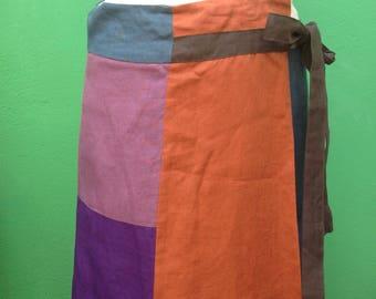 Max Mara linen skirt | Max Mara Maxi skirt | Multicolored Max Mara Skirt | linen Skirt | MO 141.