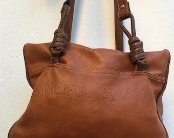 KEN SCOTT| rare Bauletto | Made in Italy | Shoulderbag | Leather bag | Vintage bag | Bauletto vintage| Vero Vintage