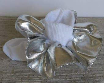 Silver Ruffle socks, metallic Ruffle socks, 3 inch Ruffle sock, flower girl socks, wedding accessories, Christmas ruffle socks, girls socks