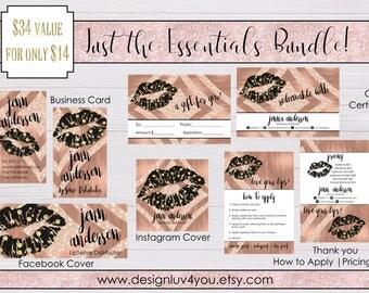 LipSense Mini Marketing Bundle | LipSense Marketing Kit | LipSense Rose Gold Mini Bundle | LipSense Business Card | *DIGITAL FILE ONLY*