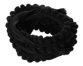 2 m of Ribbon trim sewing, scrapbooking TASSEL black