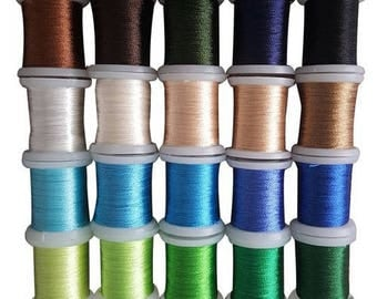 Set of 20 spools of thread to embroider cards Pack 008