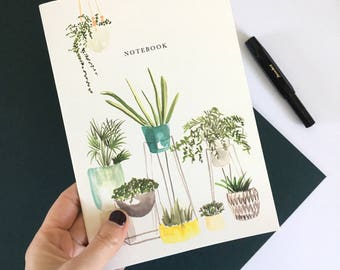 House Plants Notebook A5