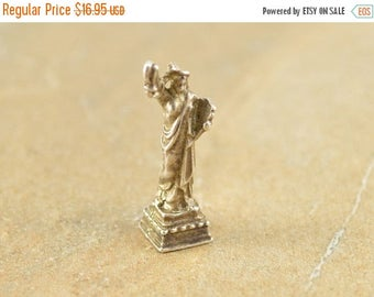 HUGE Sale 3D Statue Of Liberty New York City Charm / Pendant Sterling Silver 3.3g