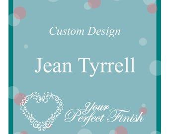 Custom Designed Wedding Cake Topper for Jean Tyrrell