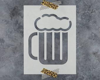 Beer Mug  Stencil - Reusable DIY Craft Stencils of a Beer Mug