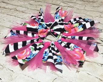 Little Fairy Set- Fabric Tutu; Rose Fabric Tutu Skirt; Fabric Tutu Skirt; Baby Tutu; Newborn Tutu; Infant Tutu; Birthday Tutu; Photo Prop