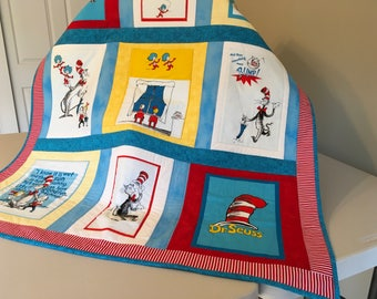 Dr Seuss The Cat In The Hat Quilt