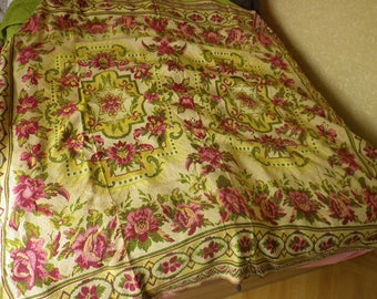 Antique Woven Double Bed Coverlet