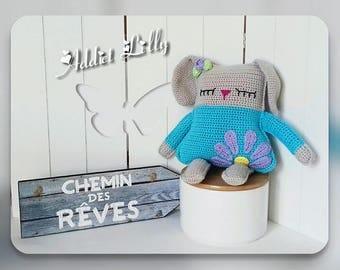 Lilac - rabbit - plush - Amigurumi crochet