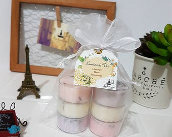 Soy tea light candle/ natural soy candle/ botanical candle/herb candle/6 pieces set/ ソイティーライトキャンドル/ ボタニカルティーライトキャンドル