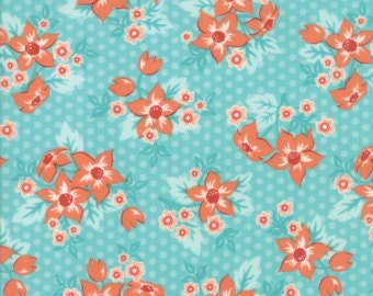 Moda - Sweet Marion by April Rosenthal - Dottie Garden Robin's Egg (24040 31) - Floral