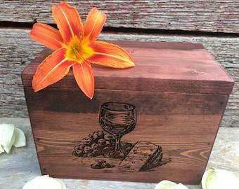 Rustic Recipe Box, Recipe Holder, Kitchen Organizer, Wedding Gift, Housewarming Gift, Christmas Gift
