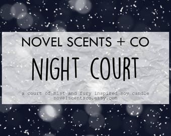 Night Court - ACOTAR / ACOMAF / ACOWAR inspired soy candle (6oz tin)