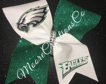 Philadelphia eagles cheer bow
