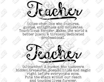 Teacher Definition SVG Teaching Back to School Quote Saying svg dxf eps jpeg format layered cutting files clipart die cut cricut silhouette