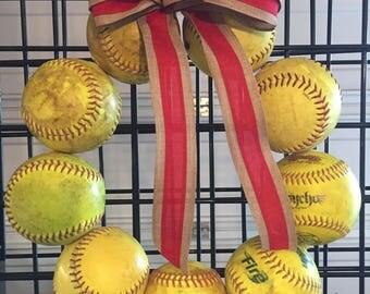 Sports Wreath - Softball