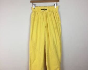 80s High Waist Yellow Pants Size M, Yellow Hammer Pants, 80s Pants M