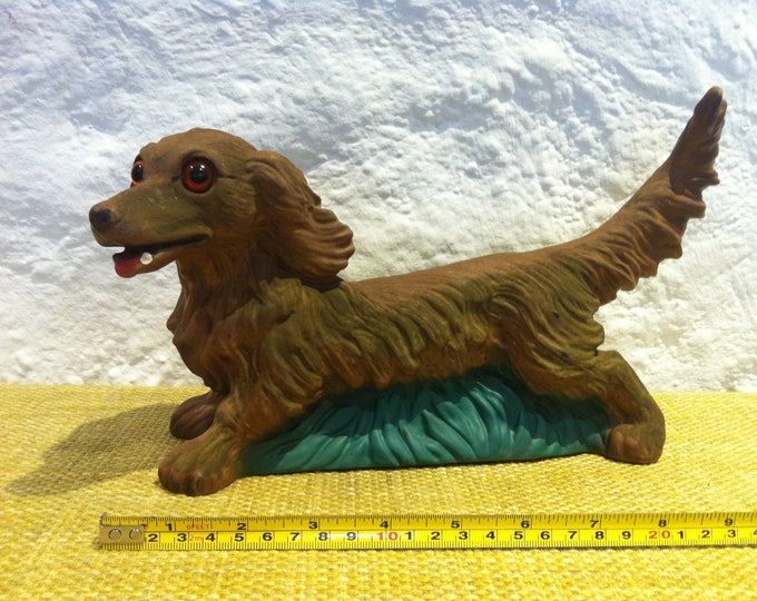 Vintage Dog Dachs Hunting Decoration Garden