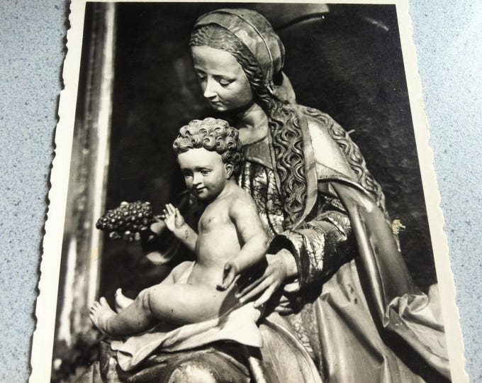 Vintage Religion Church Madonna Postcard Photo