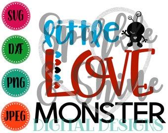 Valentine's Day SVG, DXF, JPEG, Valentine's Day Cut File, Boy Svg file, Little Love Monster svg, Little Boy Valentine svg, Valentine Monster